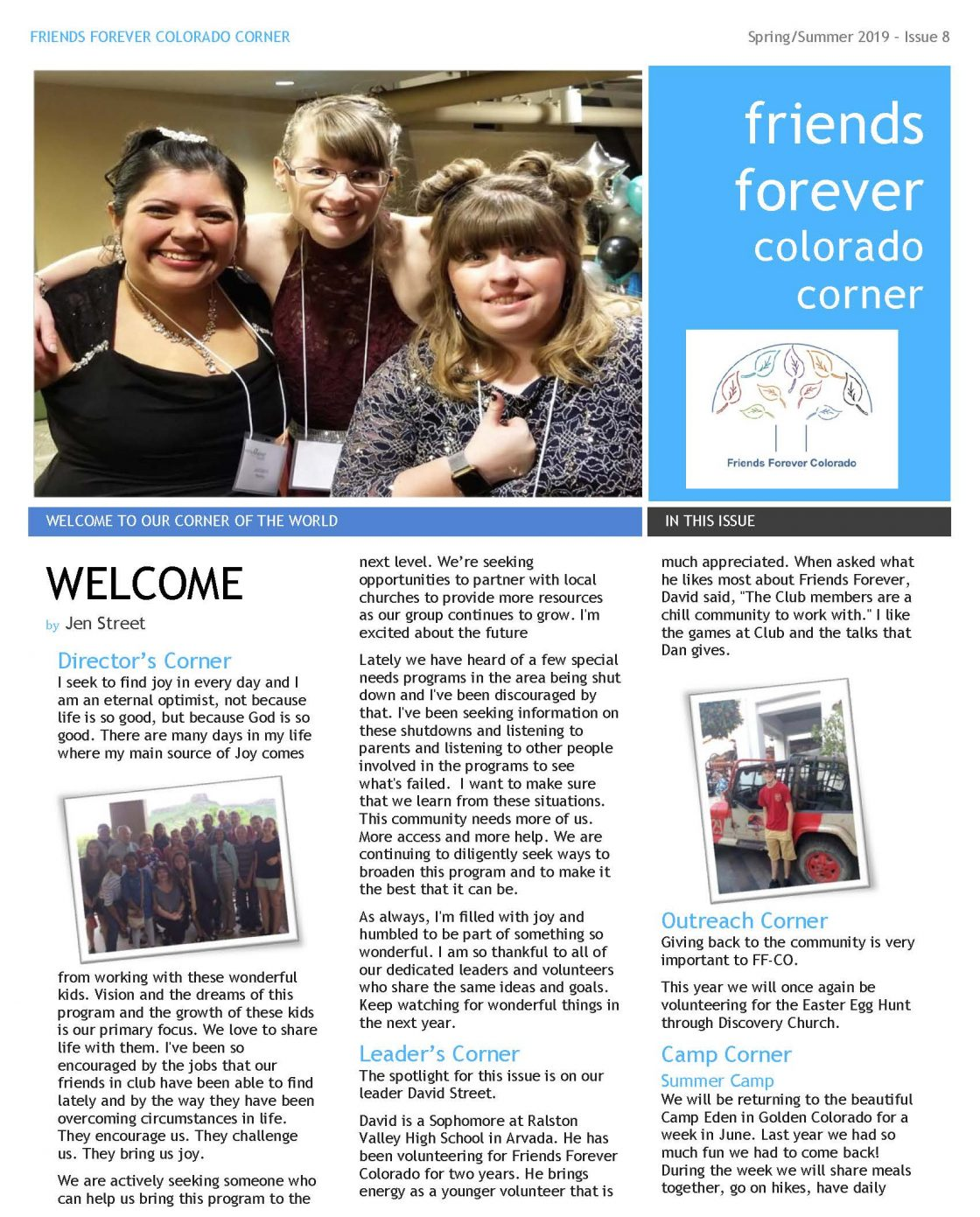 Spring 2019 Newsletter page 1