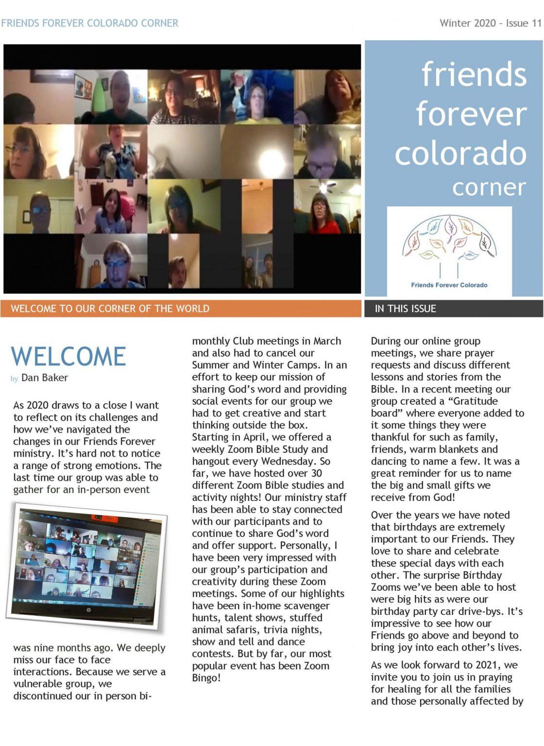 December 2020 Newsletter page 1