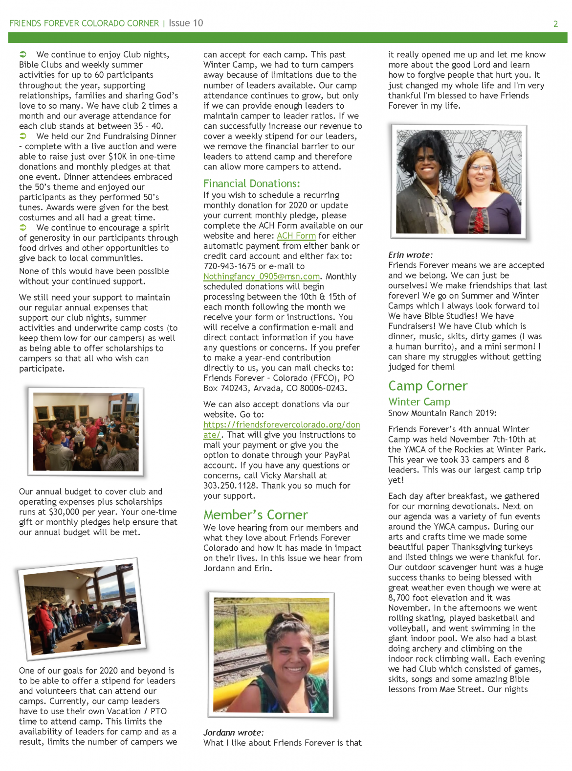 winter newsletter 2019 page 2