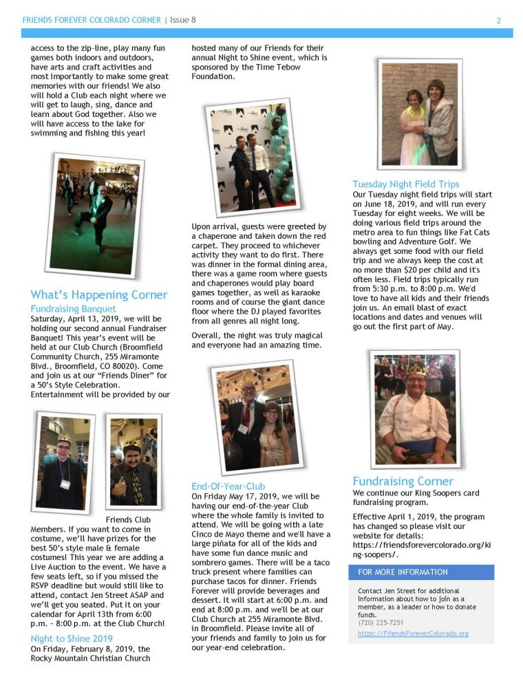 Spring 2019 Newsletter - page 2