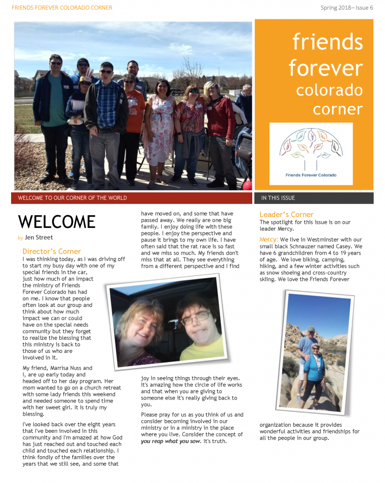 Newsletter Issue 6 - page 1